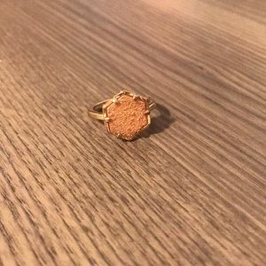 Kendra Scott Kylie Drusy Ring Gold Size 6